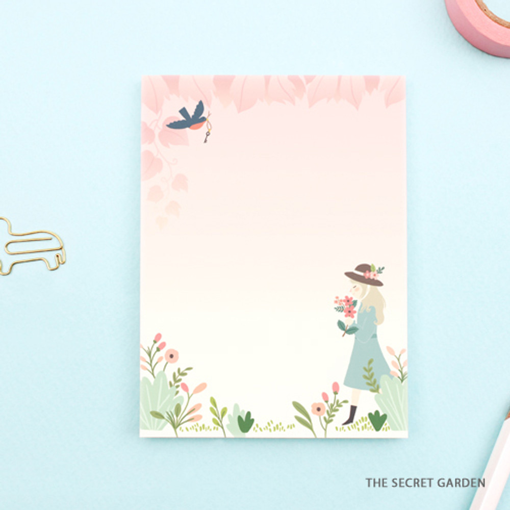 The secret garden - World literature illustration sticky memo notepad