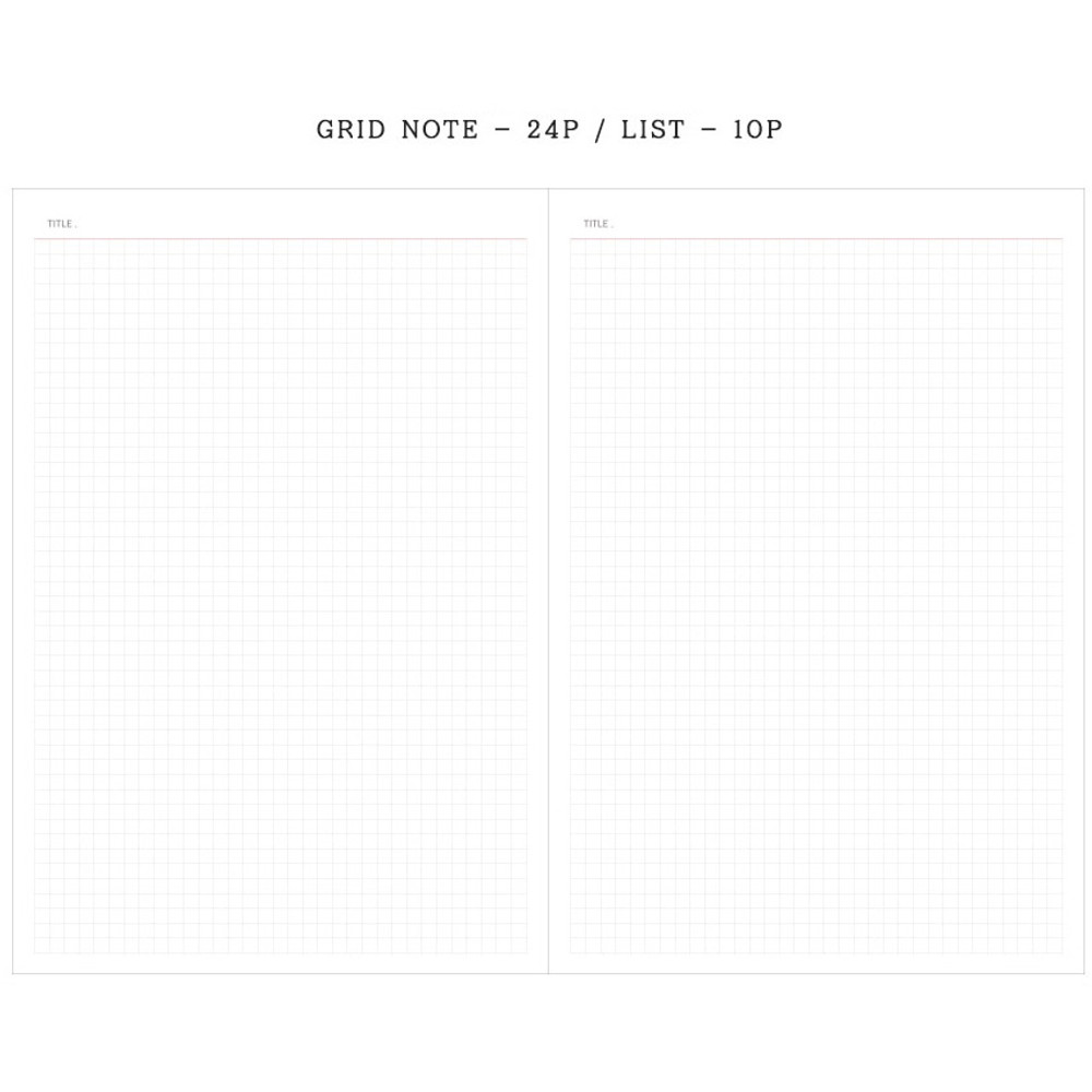 Grid note - Agenda large dateless weekly planner diary ver12