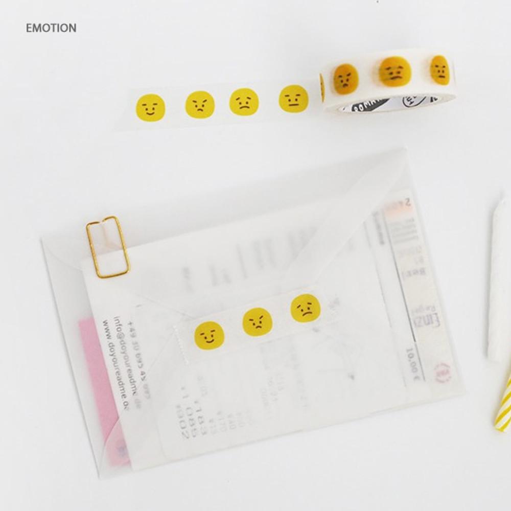 Emotion - ROMANE My rolly Washi paper 15mm X 10m deco masking tape