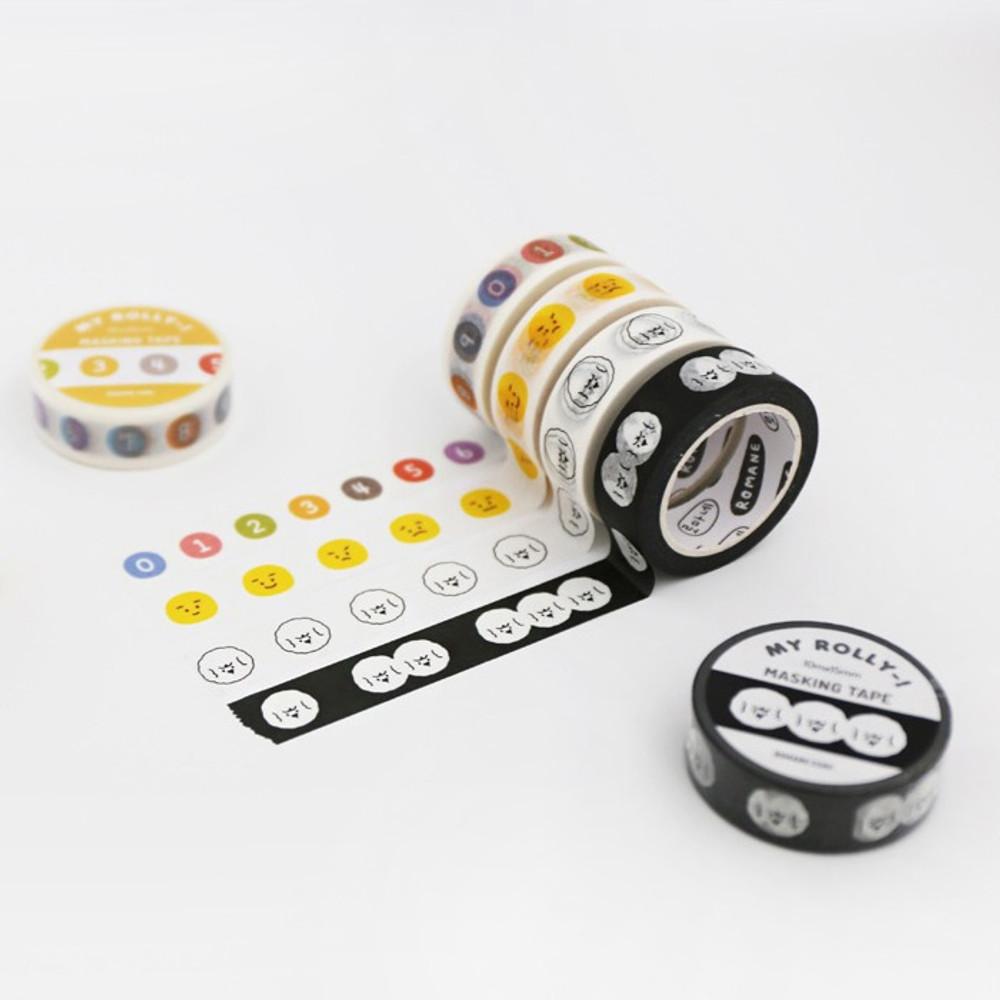 ROMANE My rolly Washi paper 15mm X 10m deco masking tape