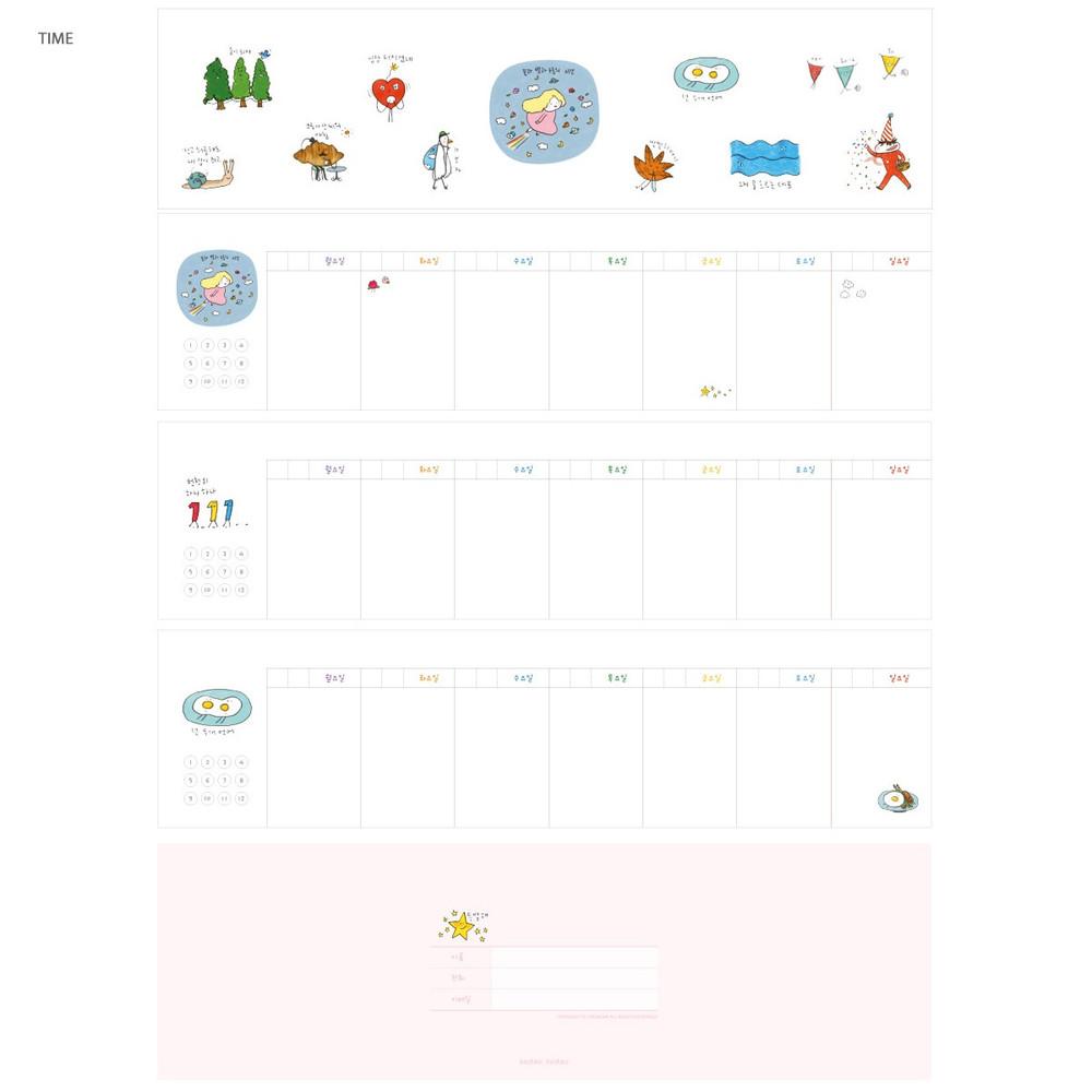 Time - Todac Todac spiral undated weekly desk planner