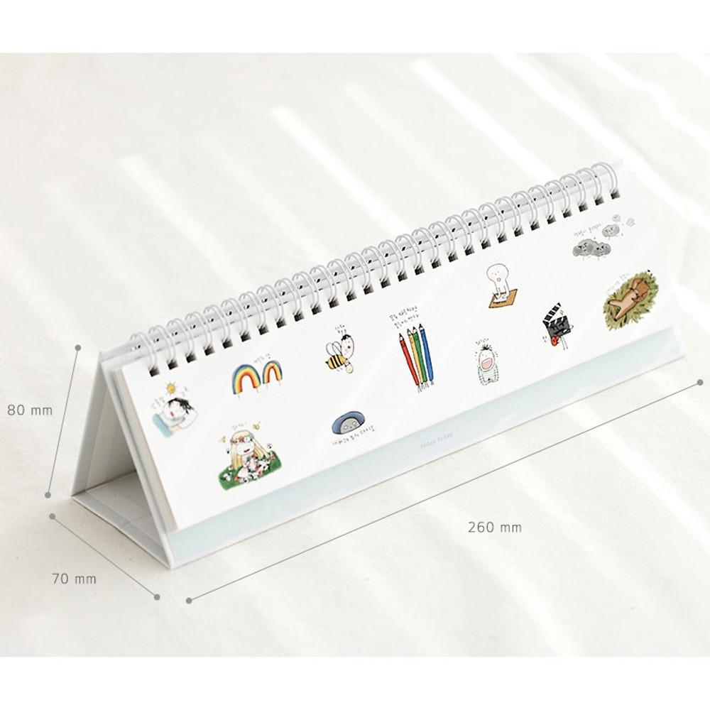 Size - Todac Todac spiral undated weekly desk planner
