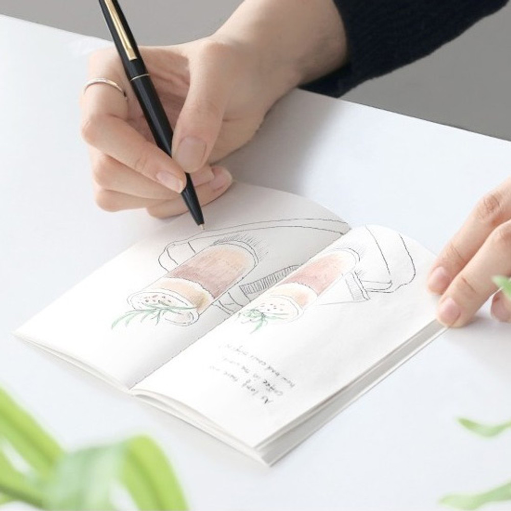 Example of use - Pocket sewn bound small plain notebook ver.2