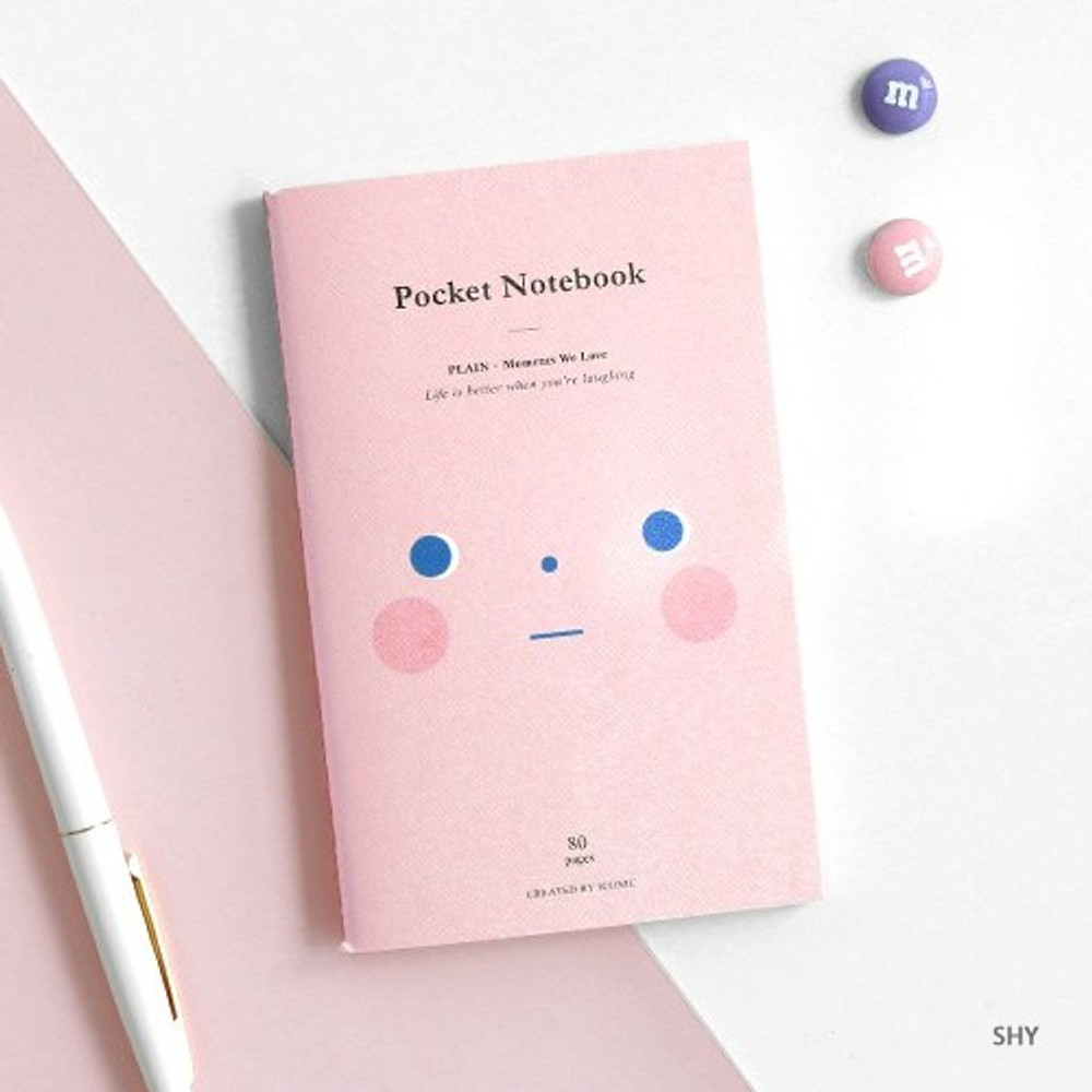 Shy - Pocket sewn bound small plain notebook ver.2
