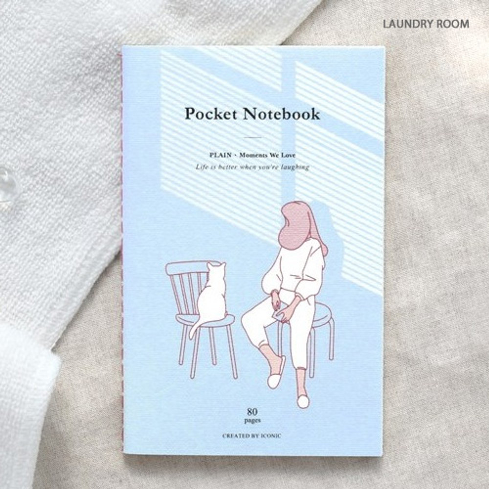 Laundry room - Pocket sewn bound small plain notebook ver.2