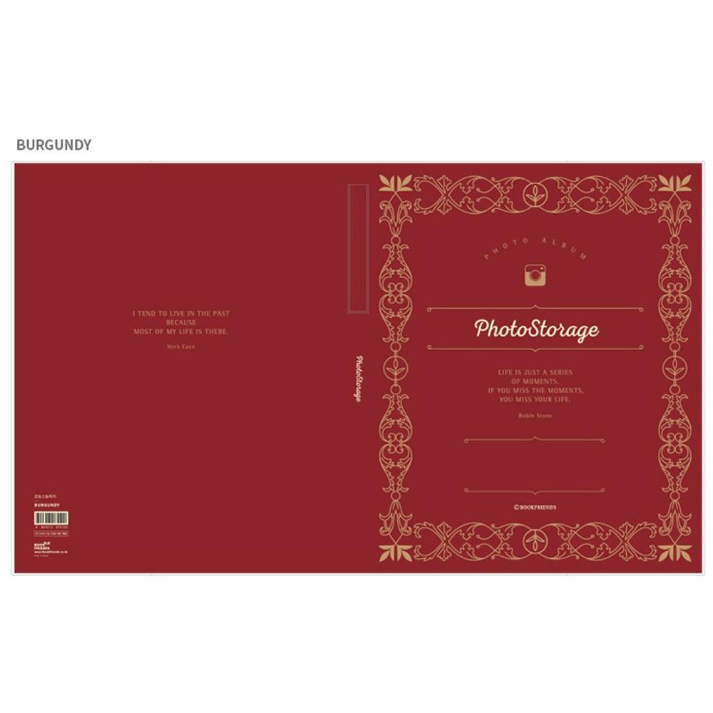 Burgundy - Photo storage self adhesive photo album ver.2