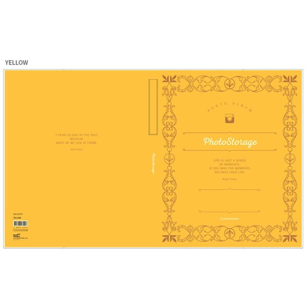 Yellow - Photo storage self adhesive photo album ver.2