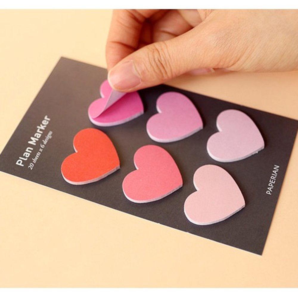 120 sheets - Heart small sticky notes memo notepad for planner
