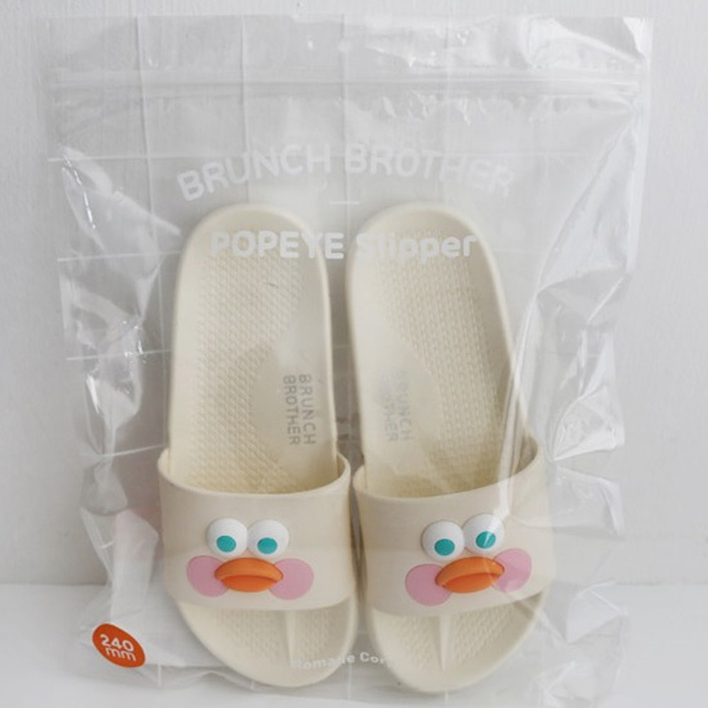 Package - Brunch brother popeye cute slide slipper sandal