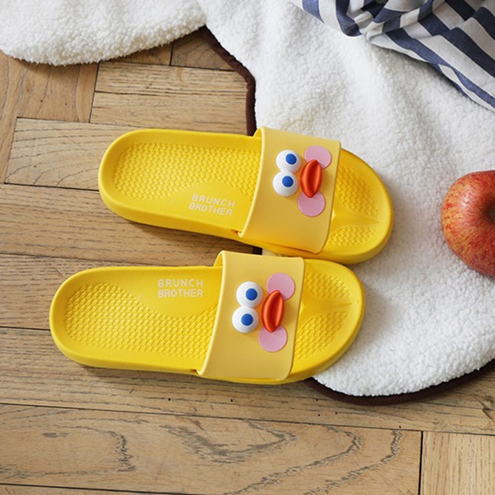 Yellow duck - Brunch brother popeye cute slide slipper sandal
