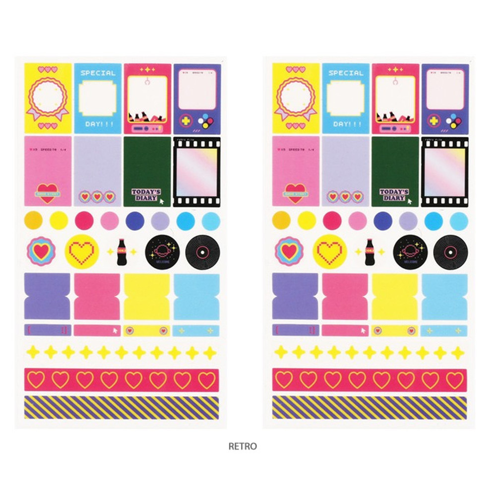 Retro - After The Rain Deco sticker set for a monthly planner