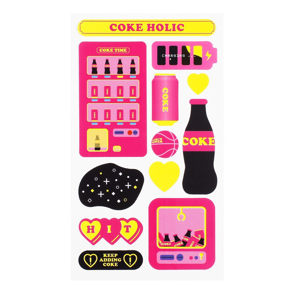 Coke holic - After The Rain Retro paper deco sticker