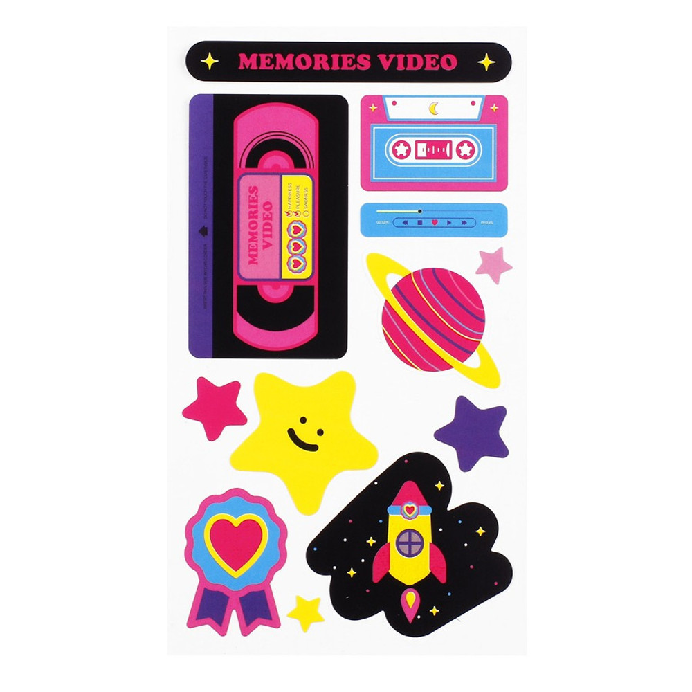 Memories video - After The Rain Retro paper deco sticker