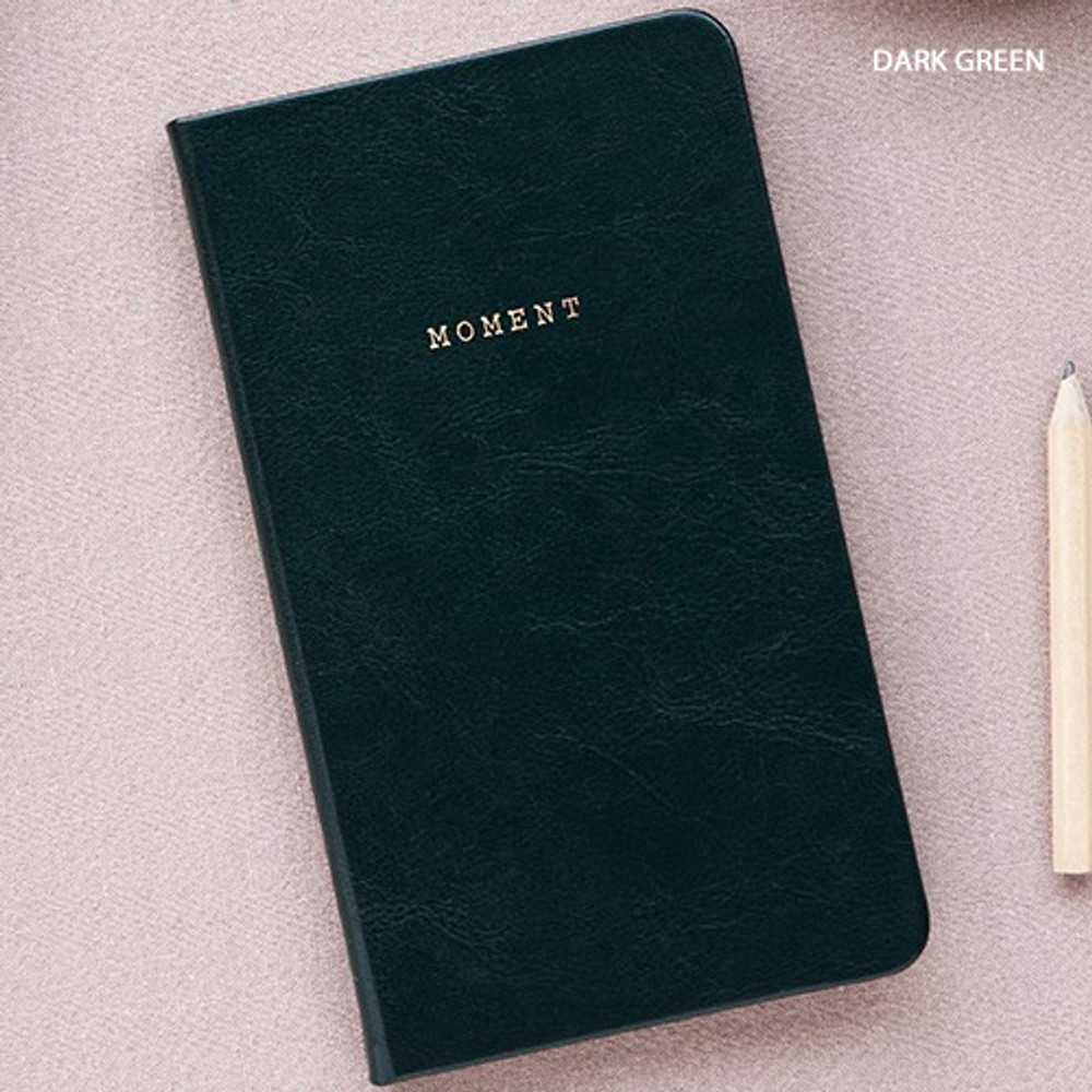 Dark green - Livework Moment small dateless daily diary planner