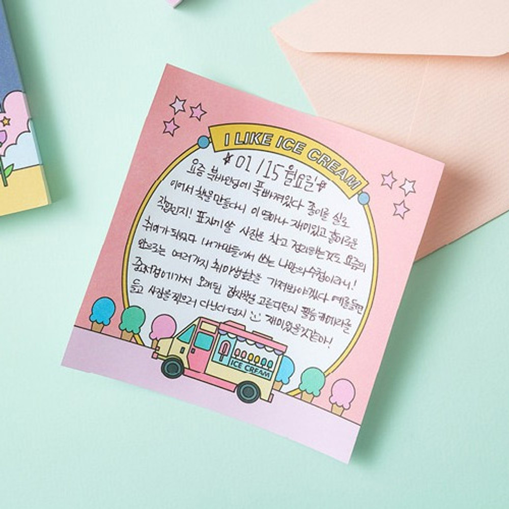 Example of use - Sweet and Love memo writing notepad