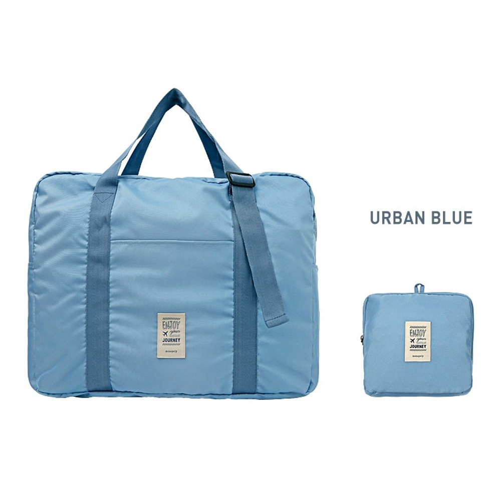 Urban blue - Easy carry small travel foldable duffle bag