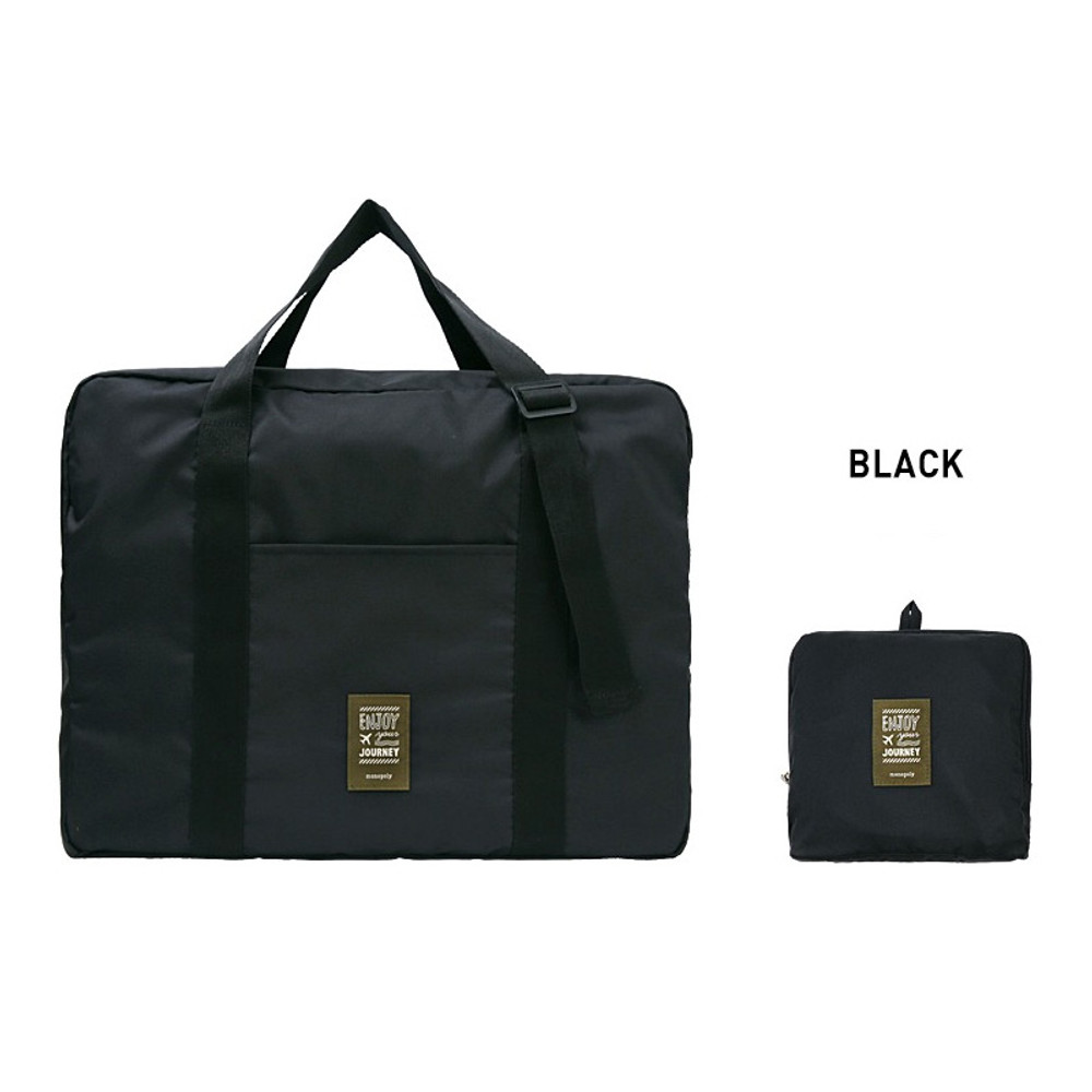 Black - Monopoly Easy carry large travel foldable duffle bag