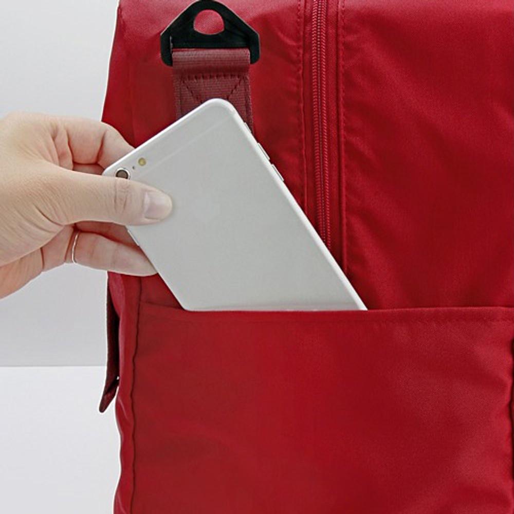 Side pocket - Easy carry large travel foldable duffle bag