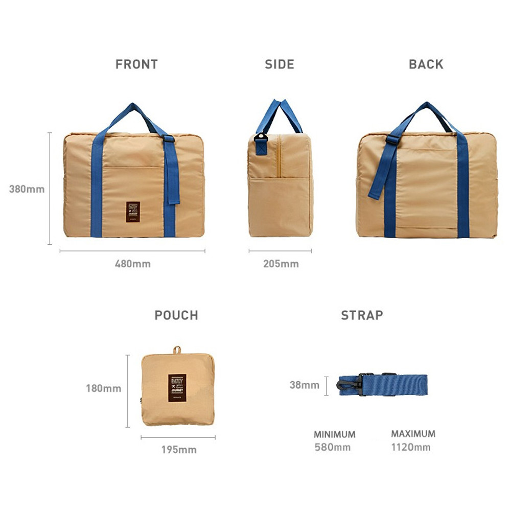 Size - Easy carry large travel foldable duffle bag