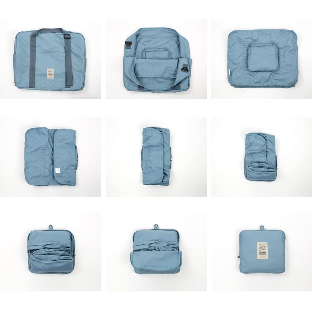 Foldable bag - Easy carry large travel foldable duffle bag