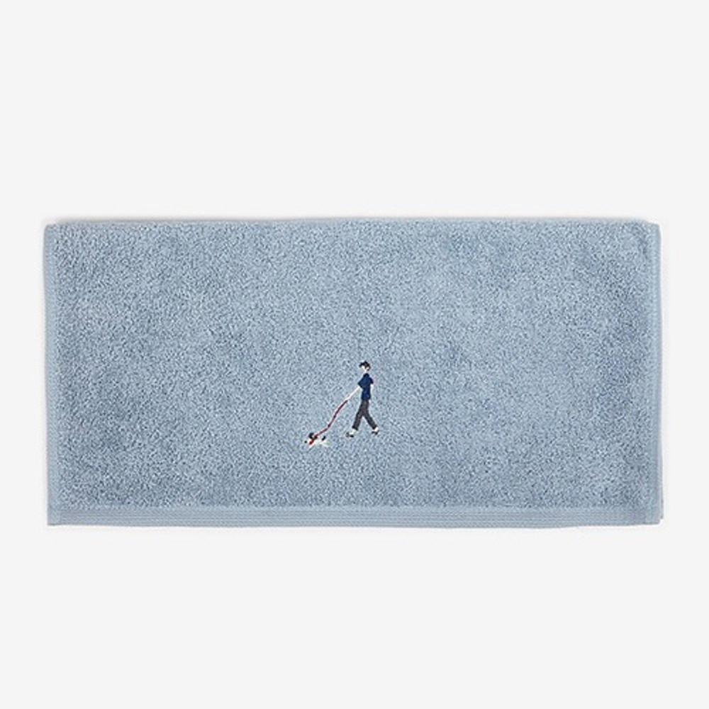 Dailylike Embroidery cotton hand towel set - Park