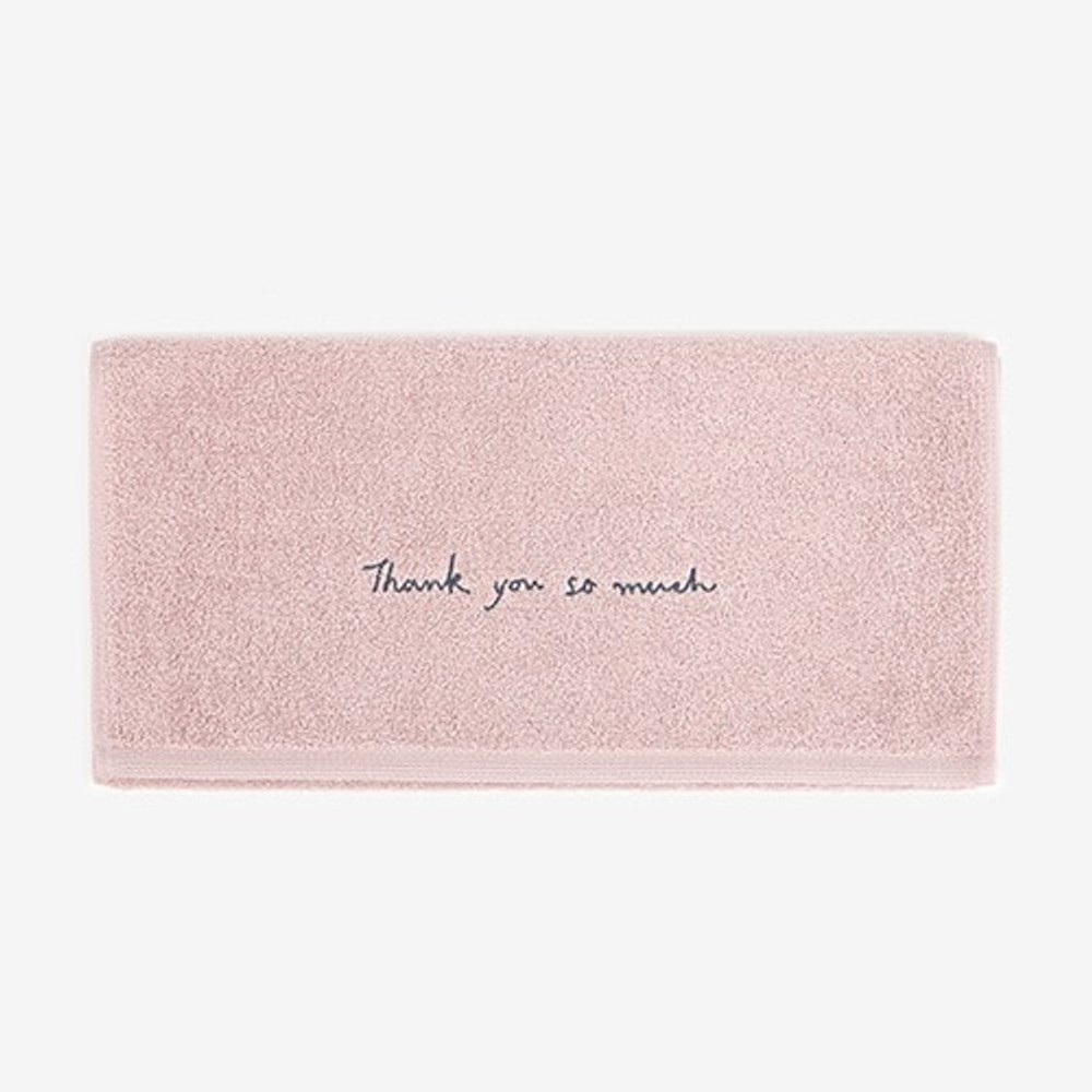 Embroidery cotton hand towel set - Thank you my love