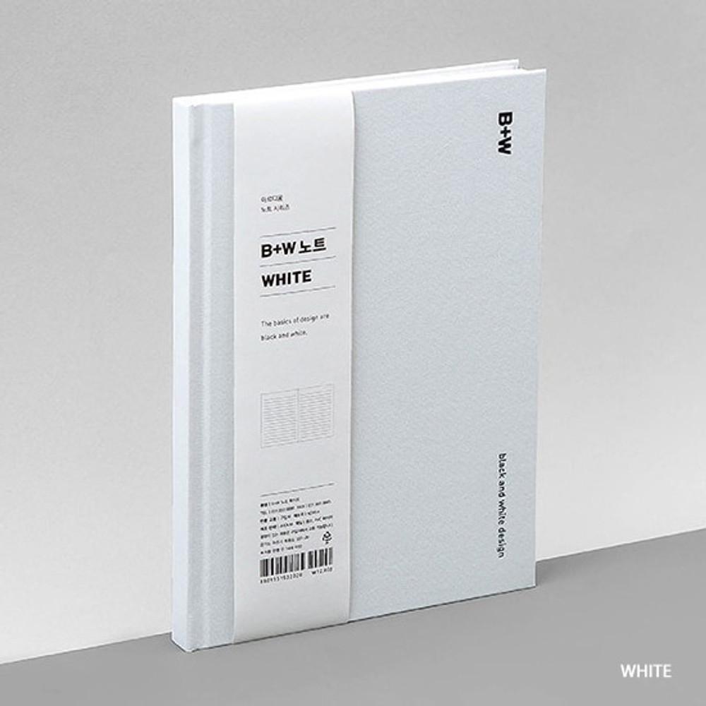 White - Ardium B+W kraft hardcover lined notebook