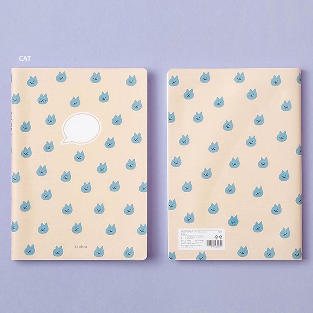 Cat - Ardium Soft pattern large lined school notebook