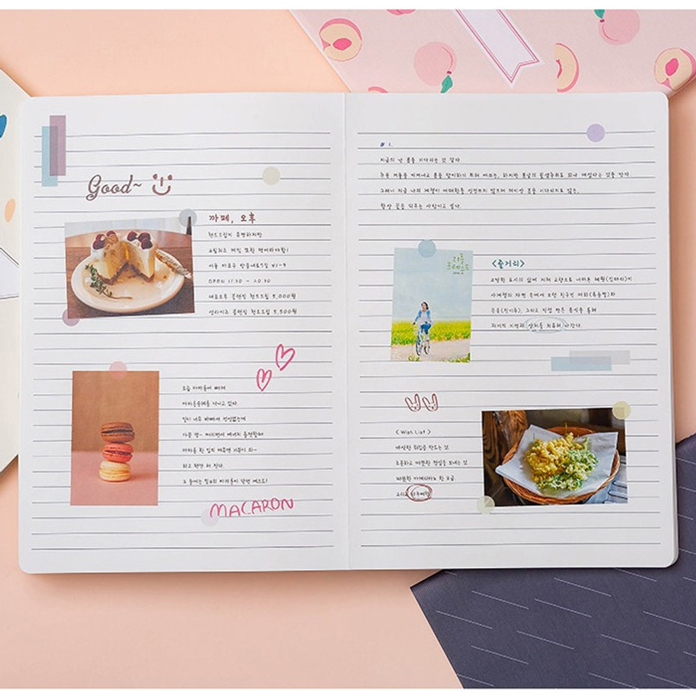 Example of use - Ardium Soft pattern large lined school notebook
