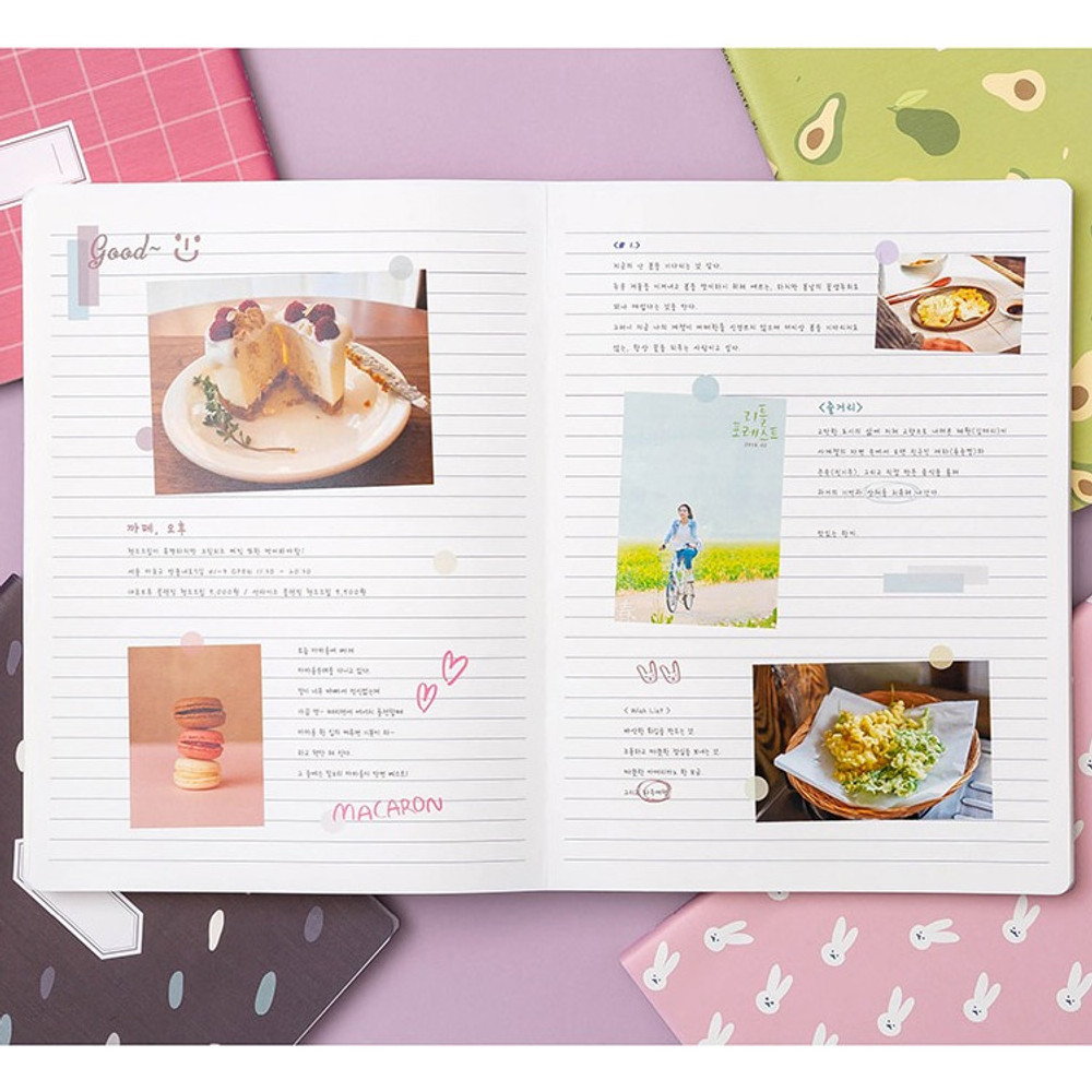 Example of use - Soft pattern extra large lined school notebook