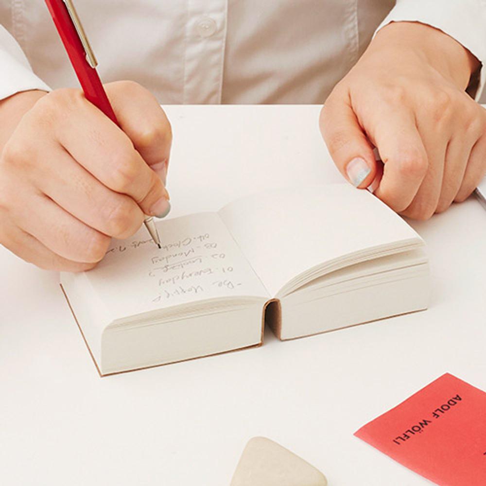 Example of use - I'm Light block plain notebook