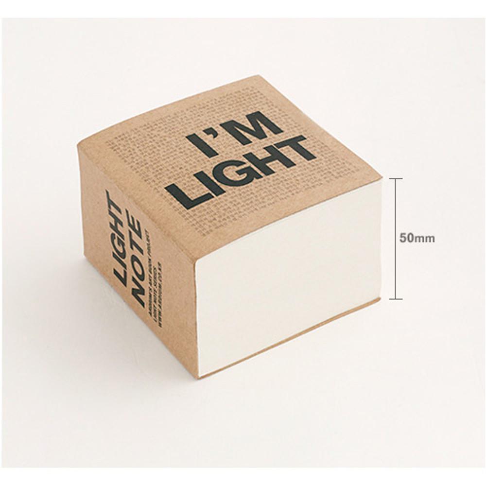 Depth - I'm Light block plain notebook