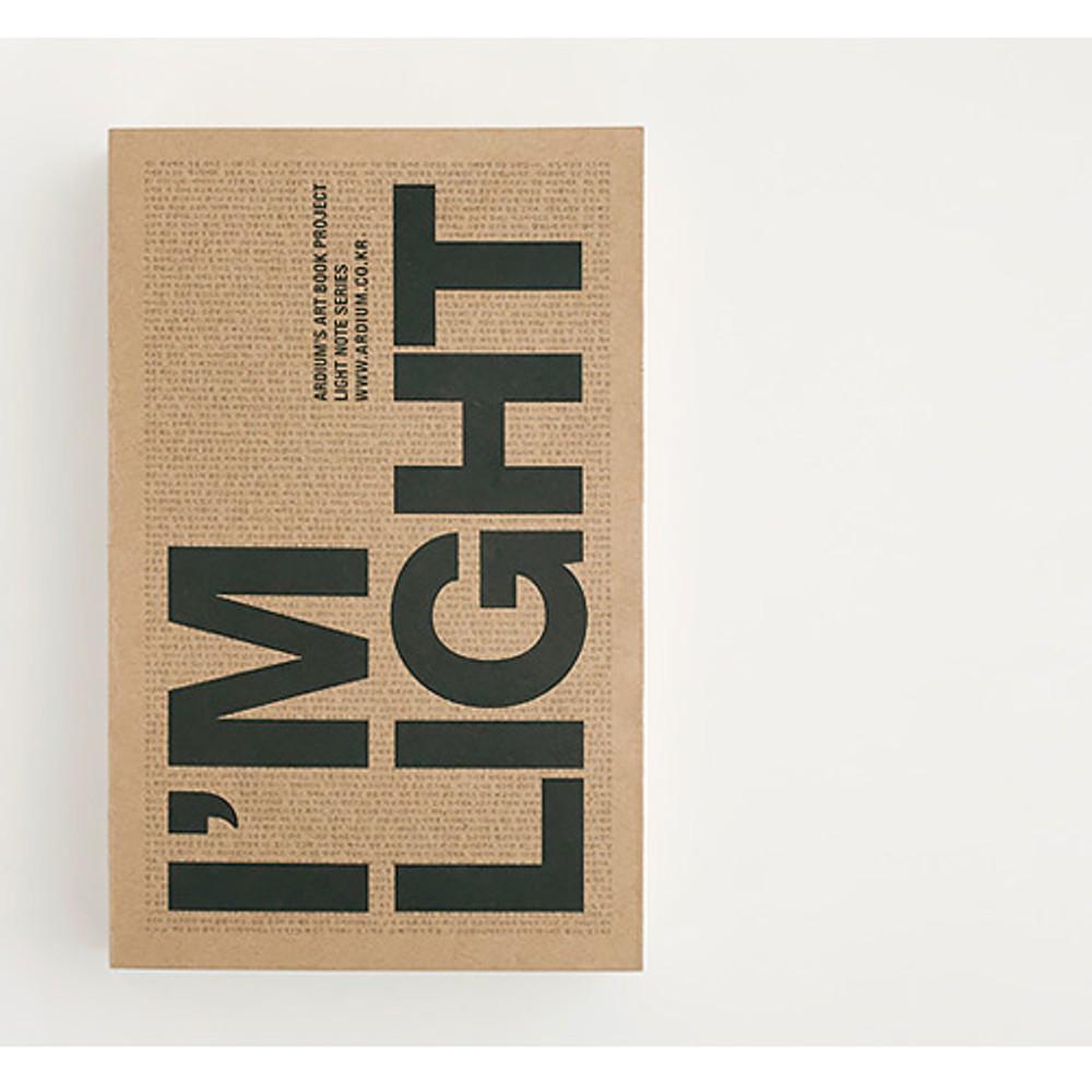 Front - I'm Light handy plain notebook