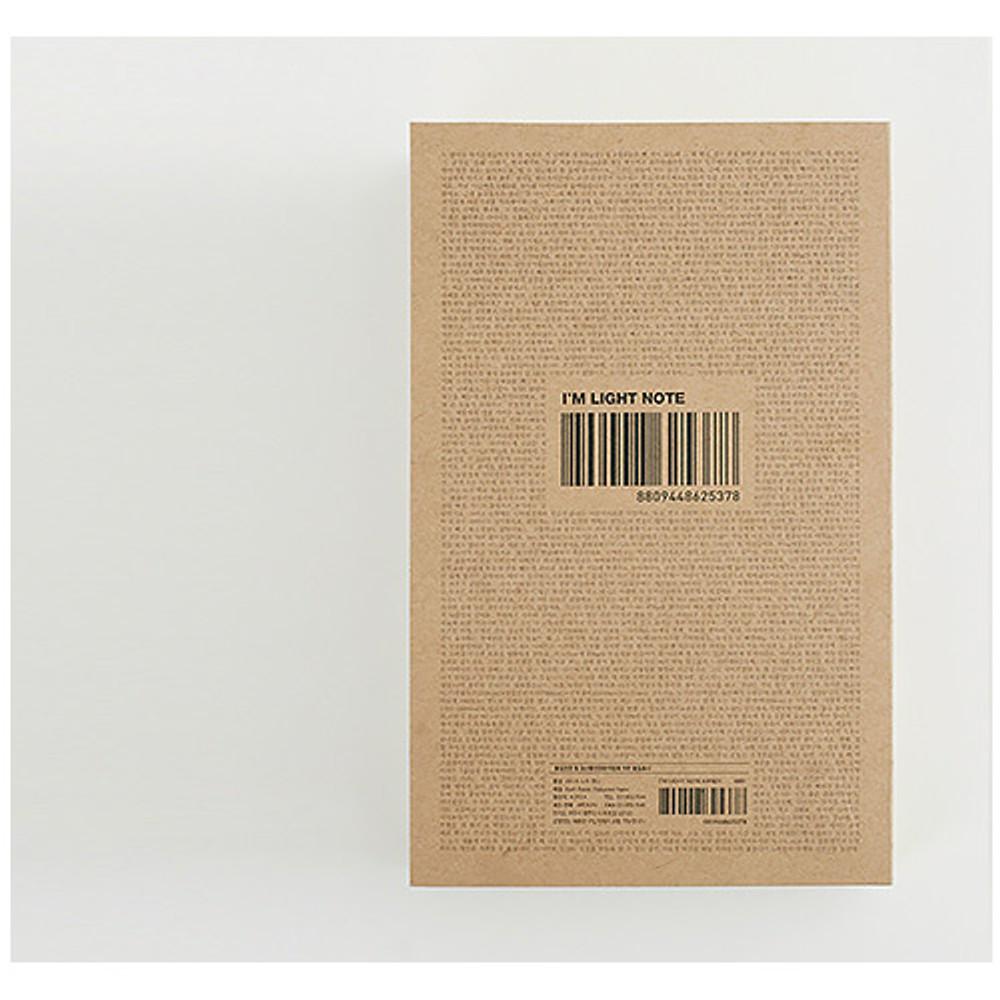 Back - I'm Light handy plain notebook