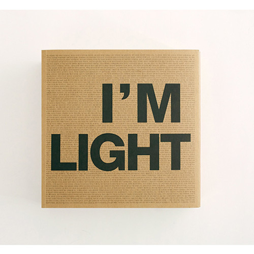 Front - New I'm Light plain notebook
