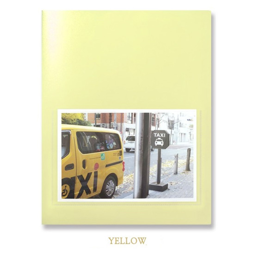 Yellow - 2young Pastel 4X6 slip in 160 pockets photo album