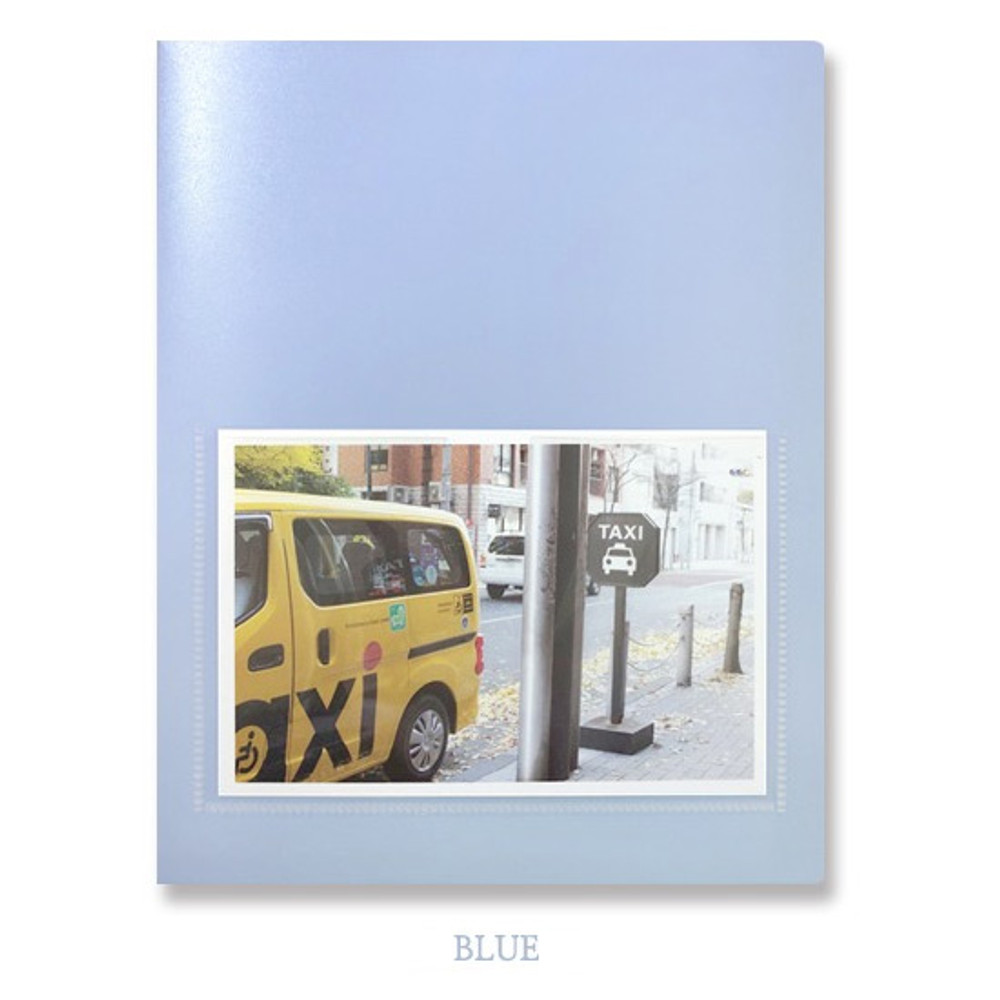 Blue - 2young Pastel 4X6 slip in 160 pockets photo album