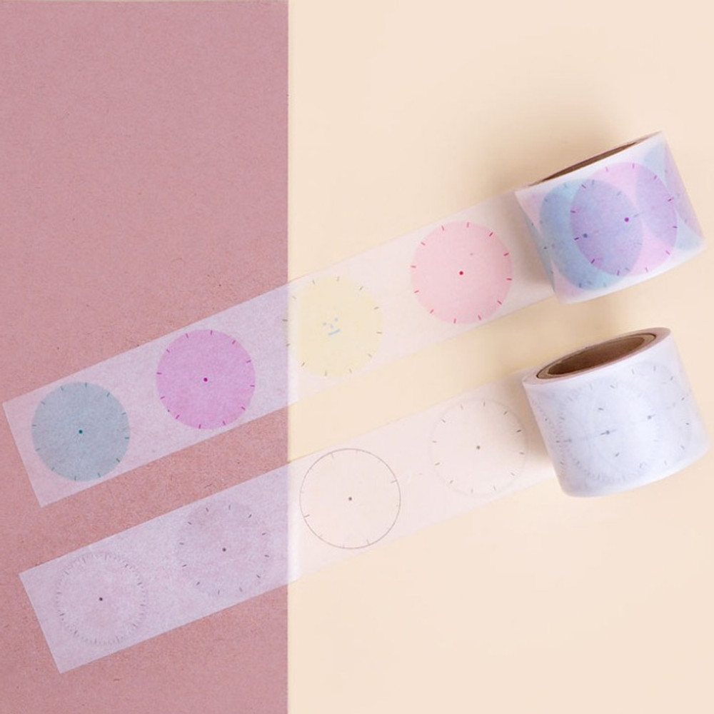 Tracing paper - Friendly clock 30mm paper deco masking tape