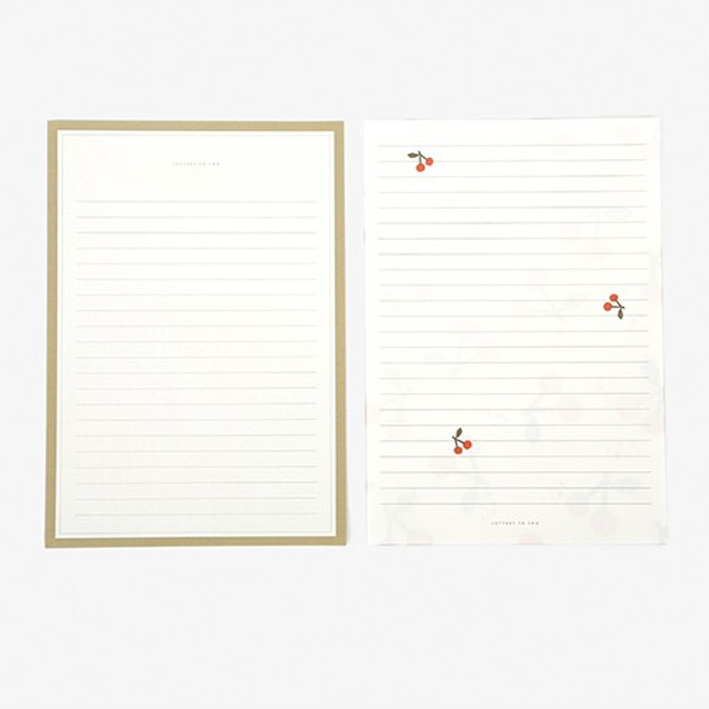 Letter - Dailylike Daily letter paper and envelope set - Cherry