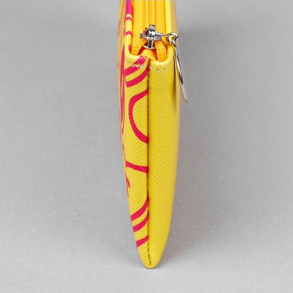 Flat pencil case - Retro PU zipper pencil case pouch