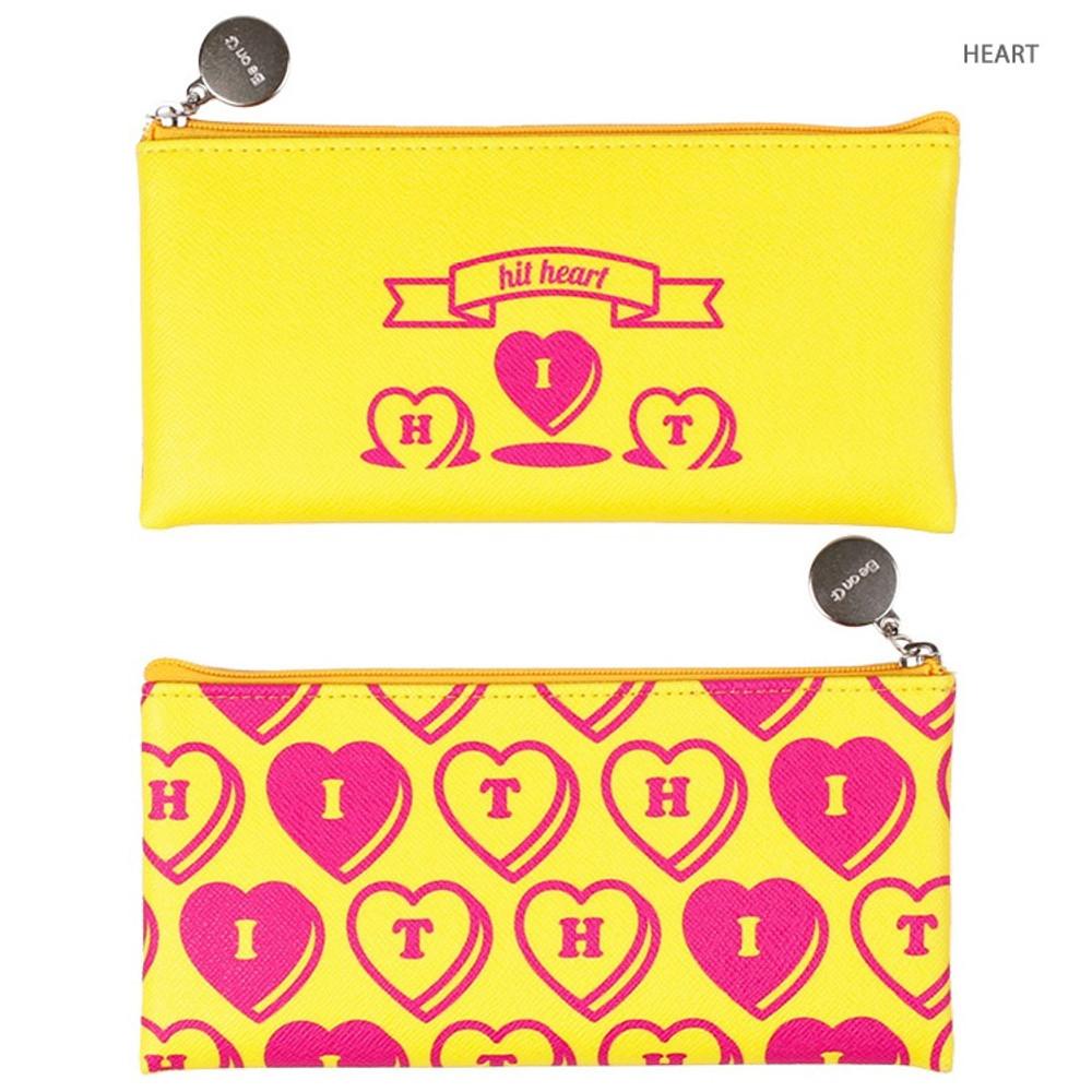 Heart - After The Rain Retro PU zipper pencil case pouch