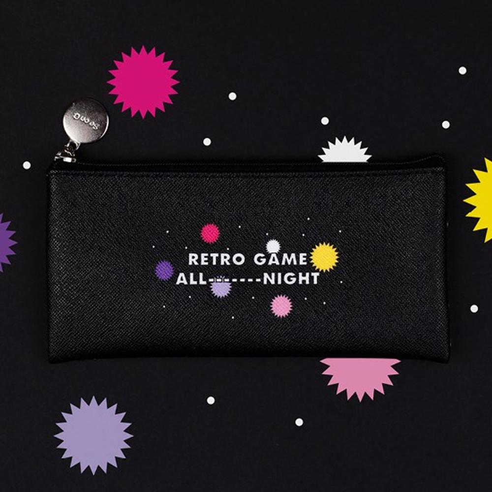 Retro game - After The Rain Retro PU zipper pencil case pouch