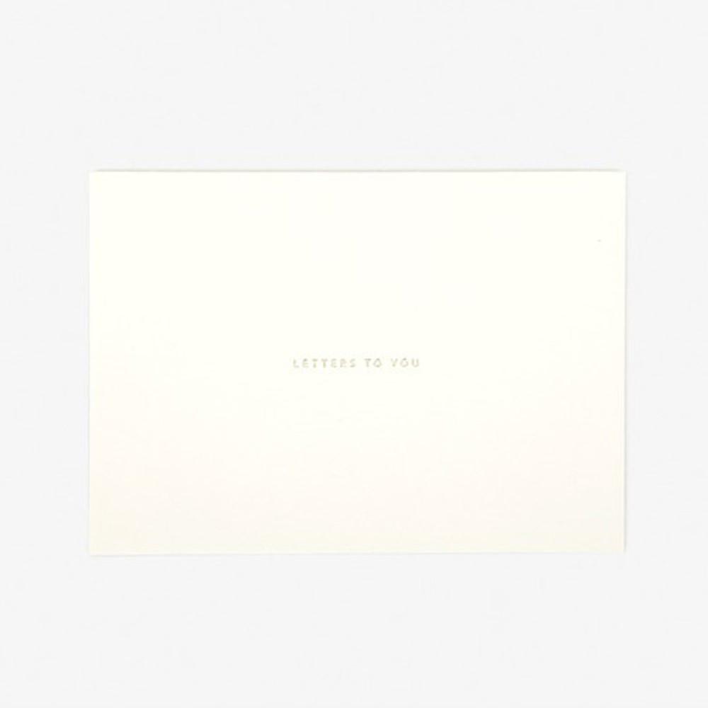 Envelope - Daily letter paper and envelope set - Bichon frise