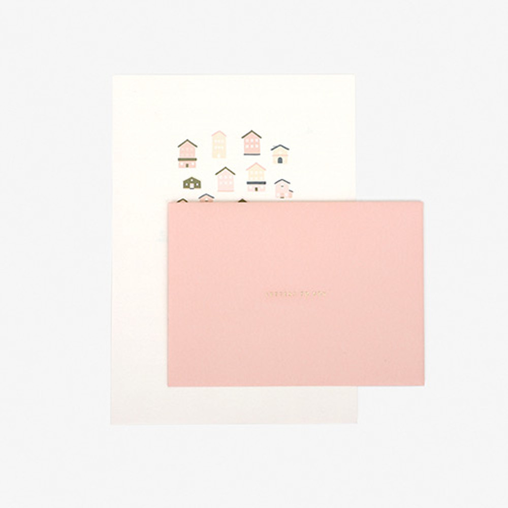 Dailylike Daily letter paper and envelope set - Home