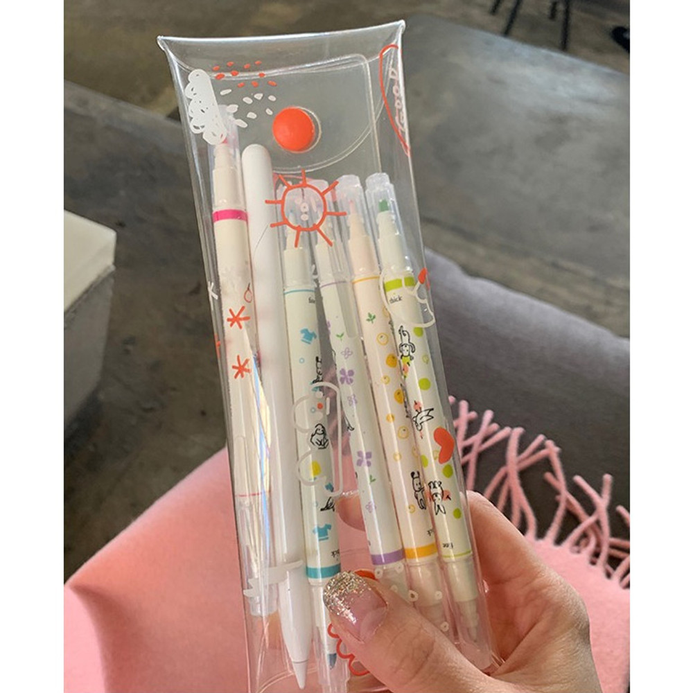 Example of use - today's weather clear folding pencil case