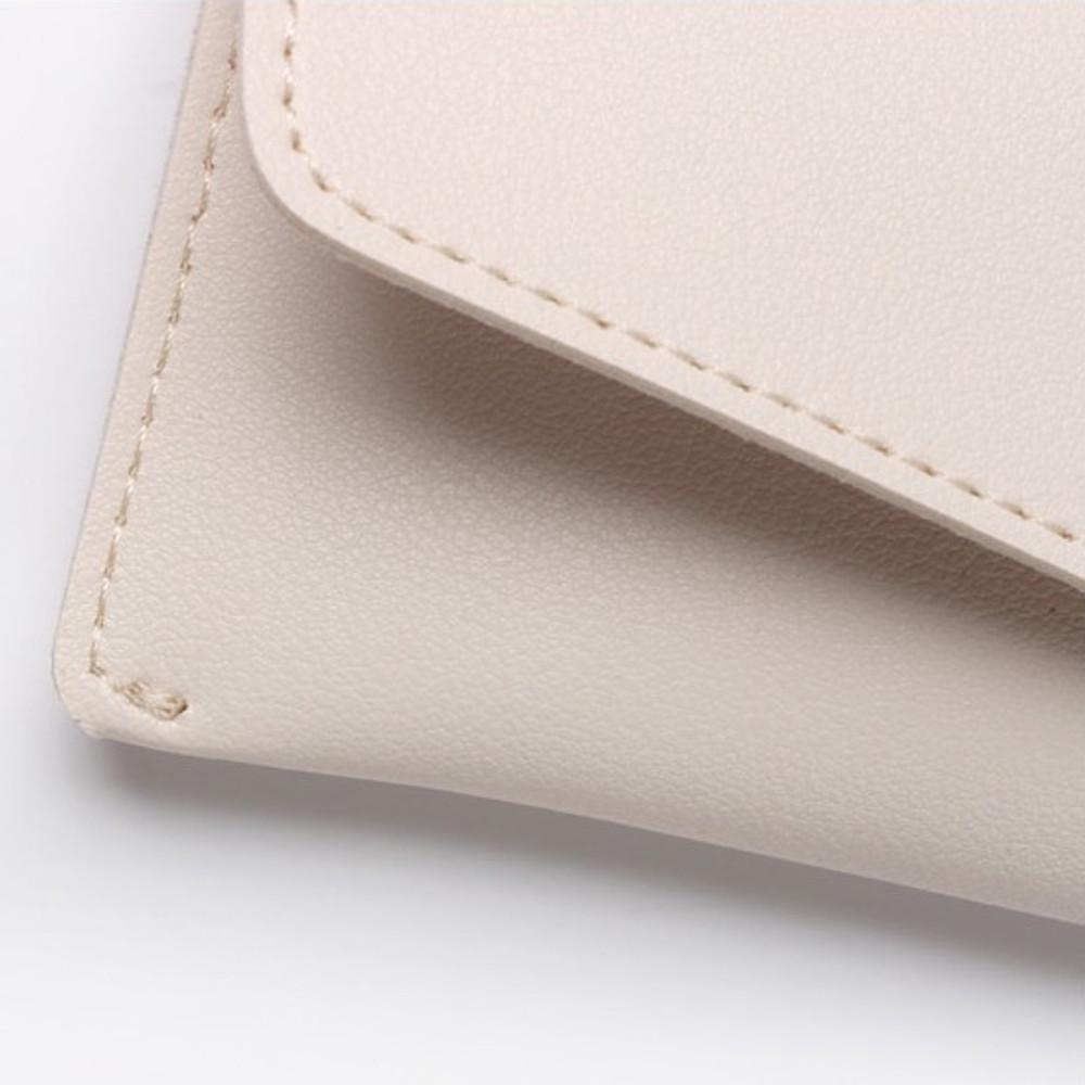 Stitches - Merci PU stitched slim pencil case pouch