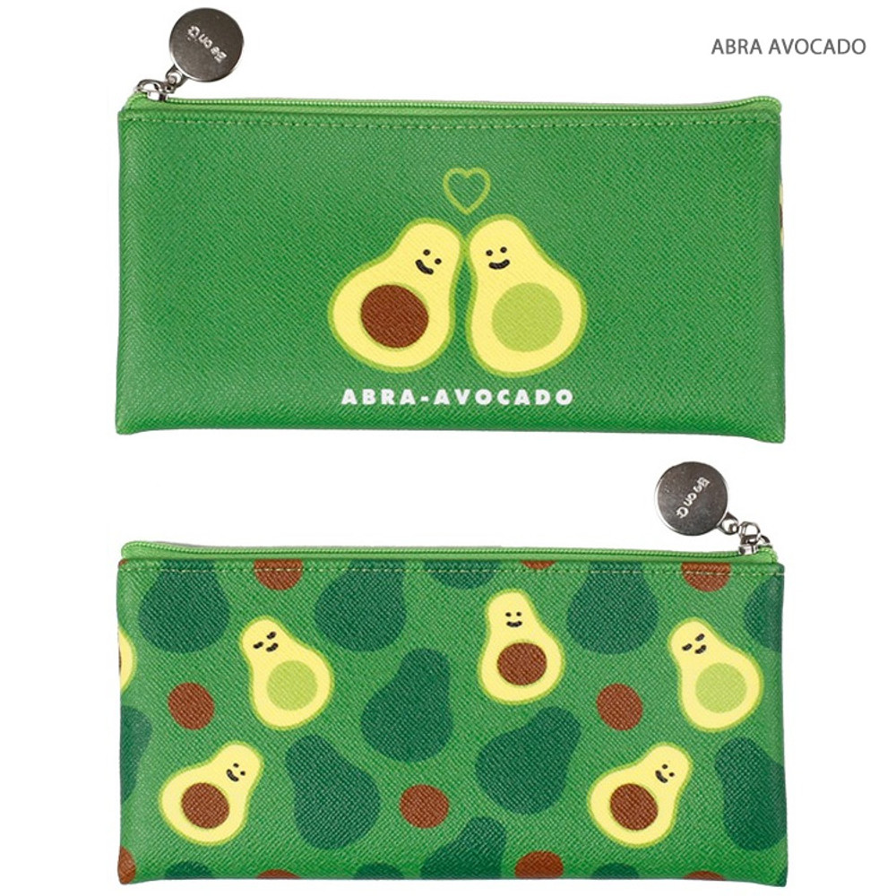 Abra avocado - Fruit PU flat zipper pencil case pouch