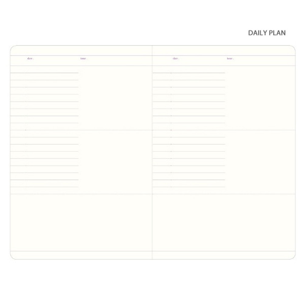 Daily plan - Plan Record Day 4 months spiral dateless daily planner