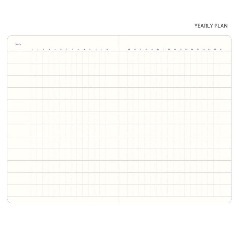 Yearly plan - Plan Record Day 4 months spiral dateless daily planner