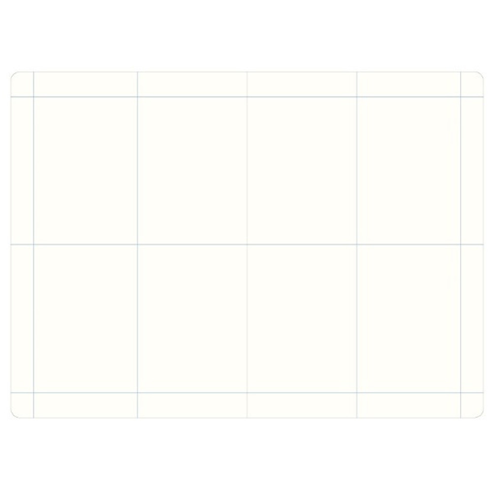 4 pieces grid - The way of remembering 3 type grid notebook